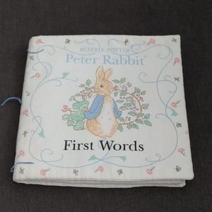 Peter Rabbit first words cloth book.